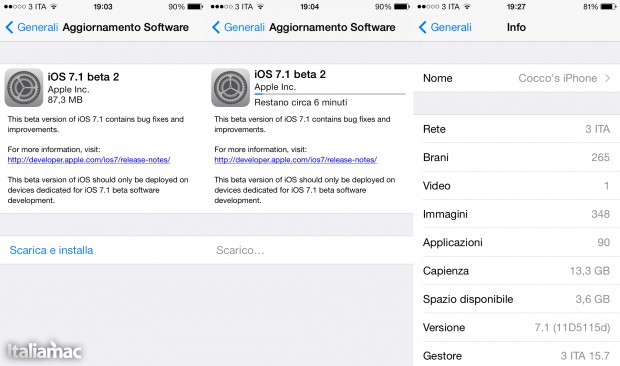 Uptate OTA 7.1 Beta 2 620x366 iOS 7.1 Beta 2 Finalmente disponibile