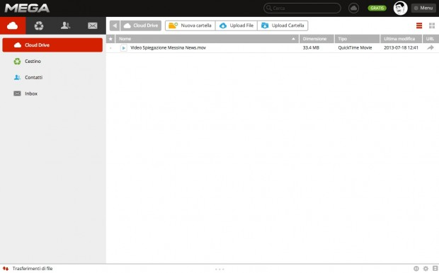mega schermata italiamac 620x386 MEGA, il servizio di Cloud Storage di Kim Dotcom, approda con lApp Ufficiale su App Store.