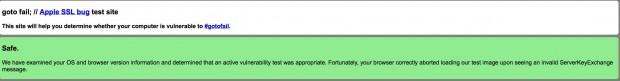 bug risolto gotofail 620x81 #gotofail: è un disastro e nessuno è (era) al sicuro. * Aggiornato