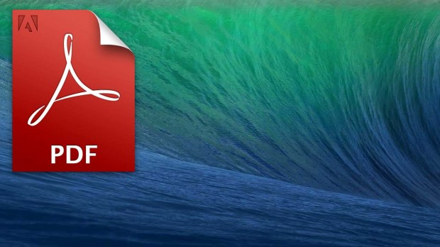 osx mavericks desktop background pdf 620x348 Mini guida per salvare in PDF con scorciatoie di tastiera su Mavericks