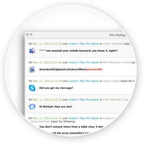 Keylogger003 Elite Keylogger per Mac: tutto quello che succede sul tuo Mac a portata di click