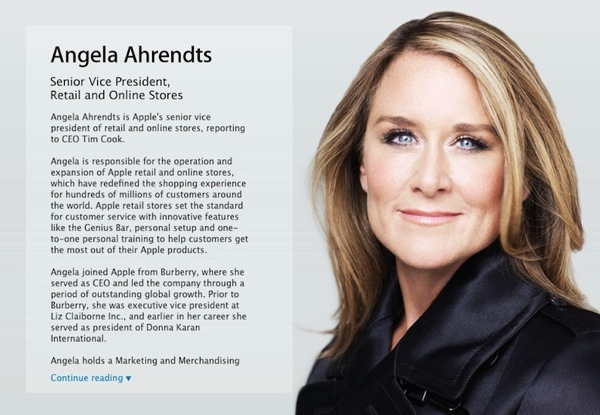 angela ahrendts Apple: Angela Ahrendts, Retail and online Stores