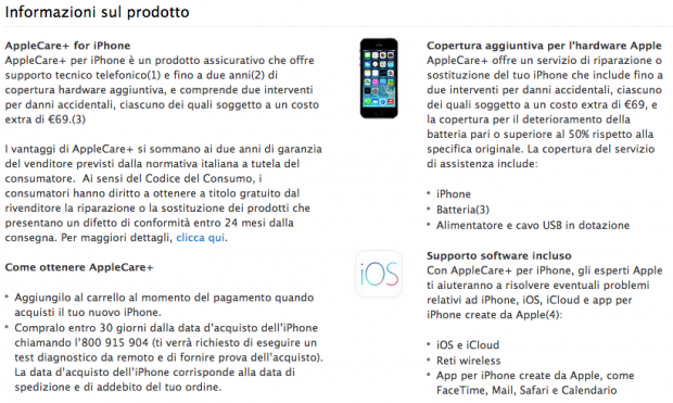 applecareiphone 620x371 Apple: 36 mesi per Apple Care +