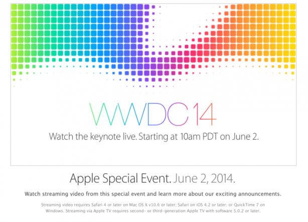 applewwdc2014 Apple trasmetterà in streaming il Keynote del WWDC 2014