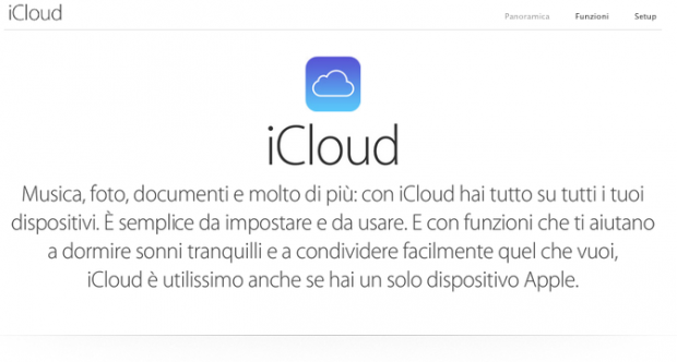 icloudapple 620x332 Apple: iCloud in black out in alcune parti del mondo