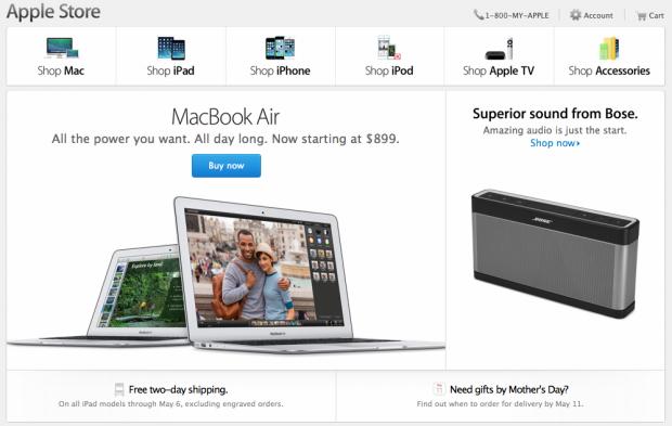 retailonlineapple 620x393 Apple: in coda ad Amazon per le vendite Online