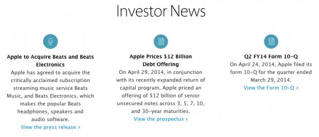 applesitoinvestitori 620x267 Apple sostituisce la grafica della sezione investitori nel proprio sito