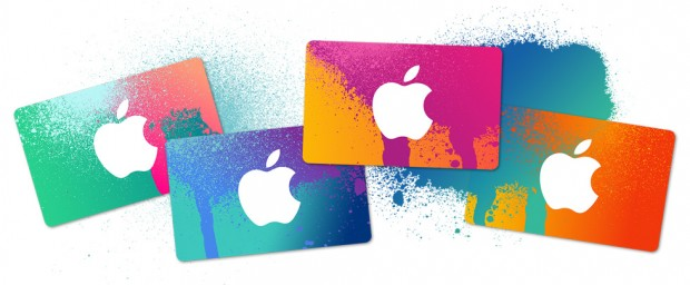 giftcards hero 620x256 In breve: App per i mondiali, iPhone 6 in autunno con mela illuminata, iTunes Card, Yosemite video