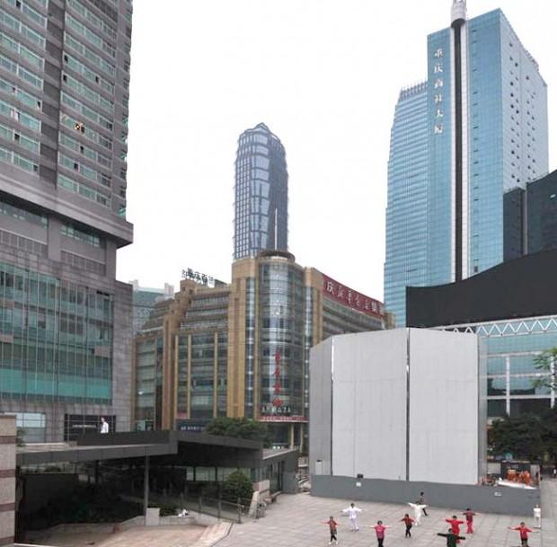 storeapplecna 620x609 L'Apple Store di Chongqing, in Cina, avrà un ingresso interamente in vetro