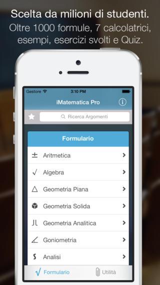 Italiamac imatematica pro un 39 applicazione per lo studio for App per risolvere i problemi di geometria
