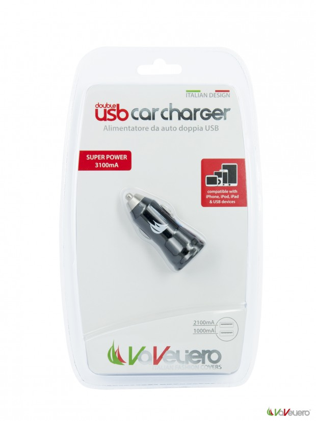 pack 2usb car charg 620x826 VaVeliero: Double USB Car Charger, un caricatore universale con 2 porte USB