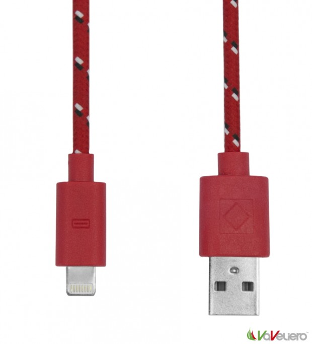 rope cable lighting red 620x683 VaVeliero: il cavo Lightning per iDevice in stile Nautico