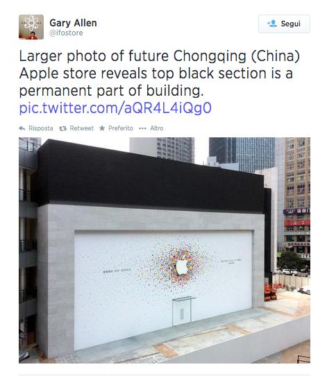storecina LAzienda di Cupertino porterà ad 11 gli Apple Store ufficiali in Cina. Il 26 Luglio sarà inaugurato un nuovo Store