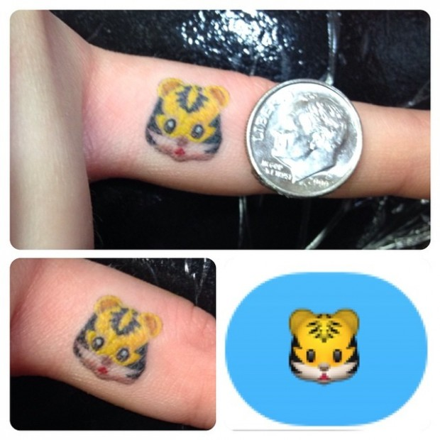 Emoji Tattoo - Lion
