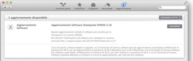 EpsonDriver218 620x197 Apple aggiorna i driver per le stampanti e scanner Epson