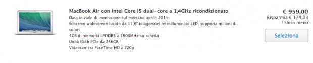 applericondizionati 620x125 I MacBook Air 2014, presentati da Apple recentemente, sono già presenti tra i ricondizionati, dove si trovano ad un prezzo più conveniente