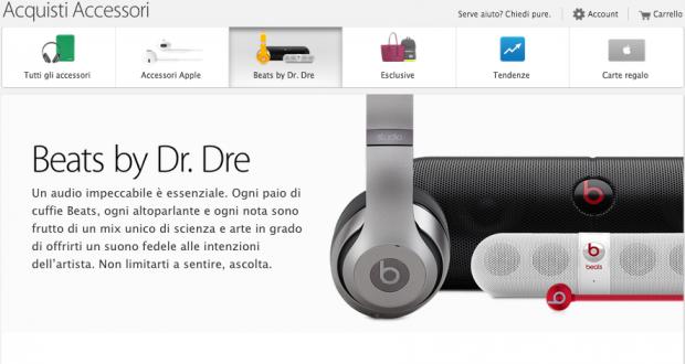applestoreonline1 620x330 LAzienda di Cupertino ha aggiunto una nuova sezione nellApple Store Online dedicata esclusivamente ai prodotti Beats