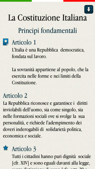 costituzione app
