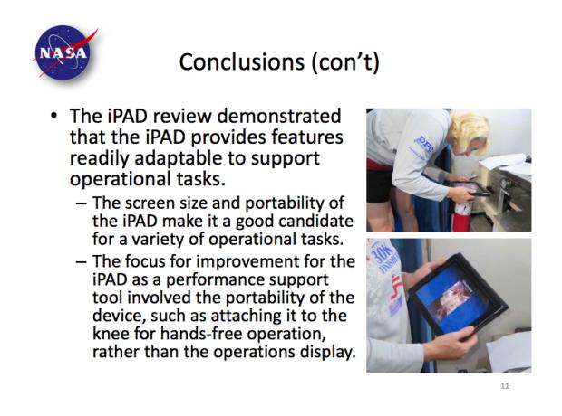 ipadapplenasa 620x460 Gli astronauti della Nasa scelgono liPad per andare nello spazio
