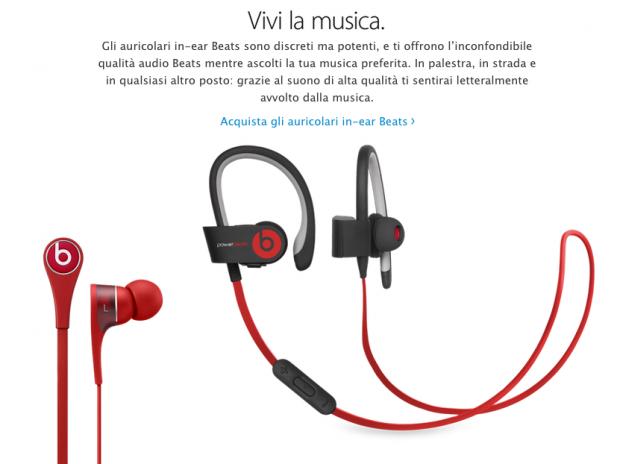 storeonline 620x464 LAzienda di Cupertino ha aggiunto una nuova sezione nellApple Store Online dedicata esclusivamente ai prodotti Beats
