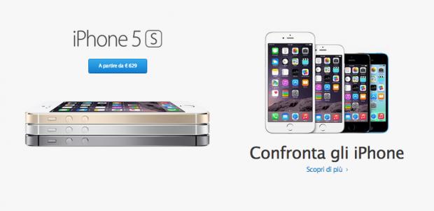 Schermata 2014 09 10 alle 18.14.28 620x302 Apple revisiona i prezzi delliPhone 5c e delliPhone 5s: si parte rispettivamente da 429€ e 629€