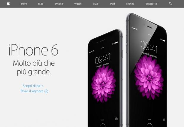 sitoapple 620x428 Il sito Apple si aggiorna con una nuova grafica, dopo il Keynote del Flint Center