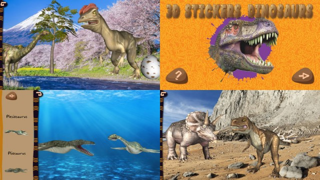 3D Stickers Animati – Dinosauri, app per bambini su iPad e iPhone