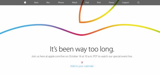 Apple trasmetterà la diretta streaming del Keynote del 16 ottobre