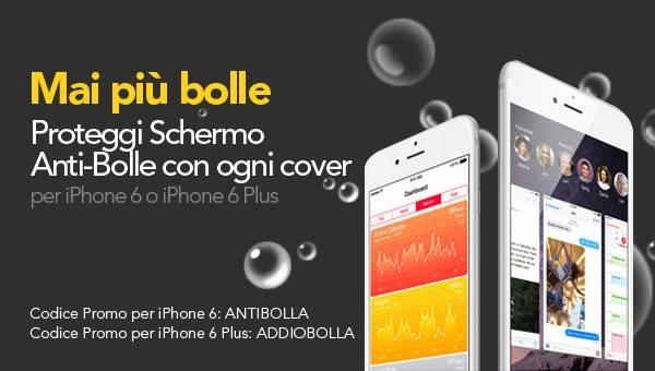 proporta Codice Promo Proporta acquistando una cover per iPhone 6e 6 Plus, in regalo un Proteggi schermo Antibolle per il vostro iDevice