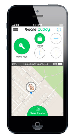 keys in biisafe buddy app large Recensione: Buddy BiiSafe, vincitore del Red Dot Product Award