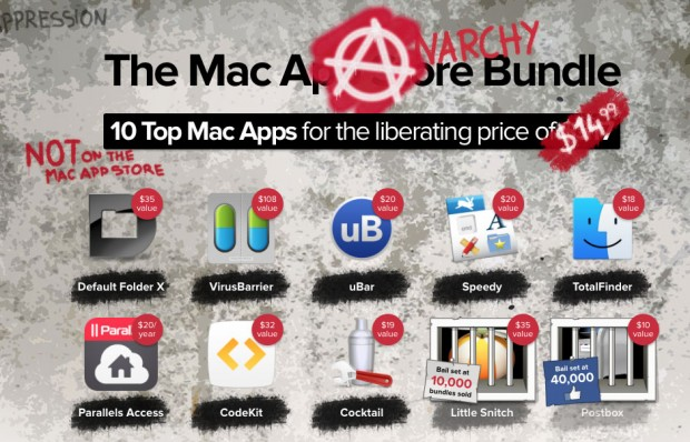 MacHeist Anarchy Bundle 620x398 Uitlmo giorno * MacHeist Anarchy Bundle, 10 app per Mac a $14,99 + 1 in regalo senza acquisto