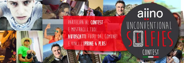aiino 620x214 Aiino: vuoi vincere un iPhone 6 Plus, un iPhone 6, un iPad Air 2 ? Scattati un Unconventional Selfie e partecipa al concorso!