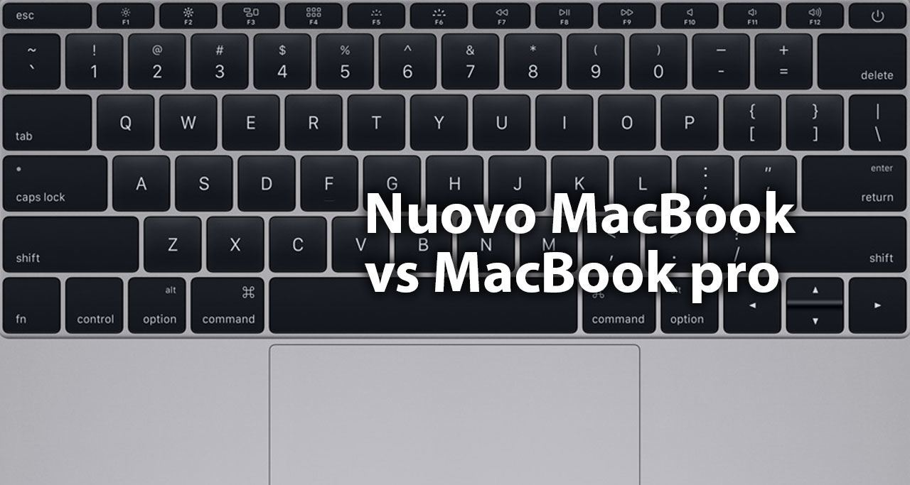 confronto nuovo MacBook MacBook Pro 13