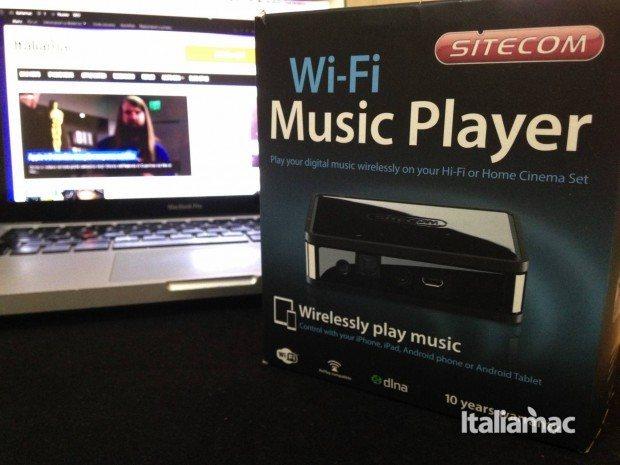 wi fi music player confezione 620x465 Wi Fi Music Player con tecnologia Airplay
