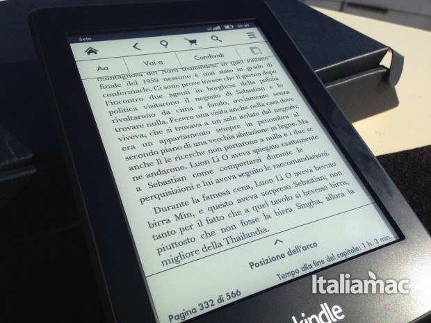 kindle paperwhite opzioni 620x465 Kindle Paperwhite 3G, la mia prova dell eReader Amazon