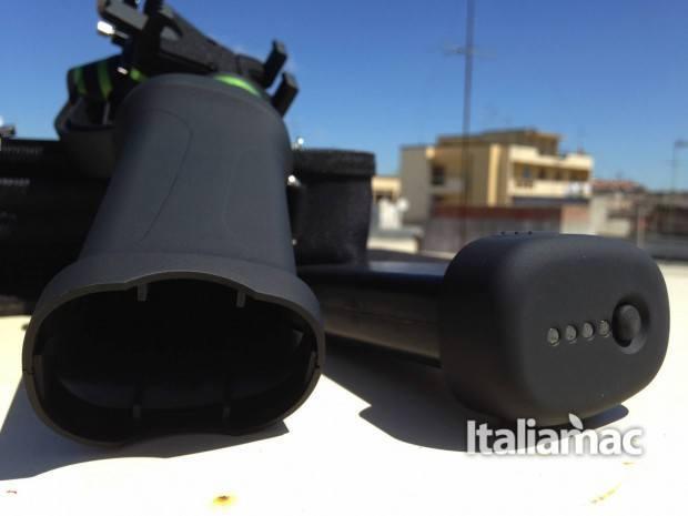 lanparte batteria 620x465 Handheld Gimbal, lo stabilizzatore di Lanparte dedicato a iPhone e GoPro