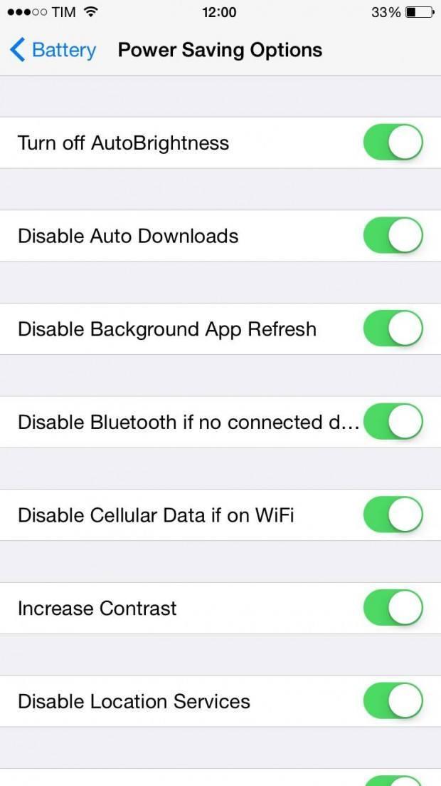 img 1132 620x1103 Aggiungiamo la modalità Low Power di iOS 9 in iOS 8 con il Tweak Power Saver Mode