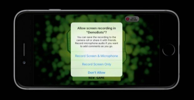ios 9 screen recording replaykit 620x322 Il ReplayKit permetterà di registrare lo schermo di iPhone in iOS 9