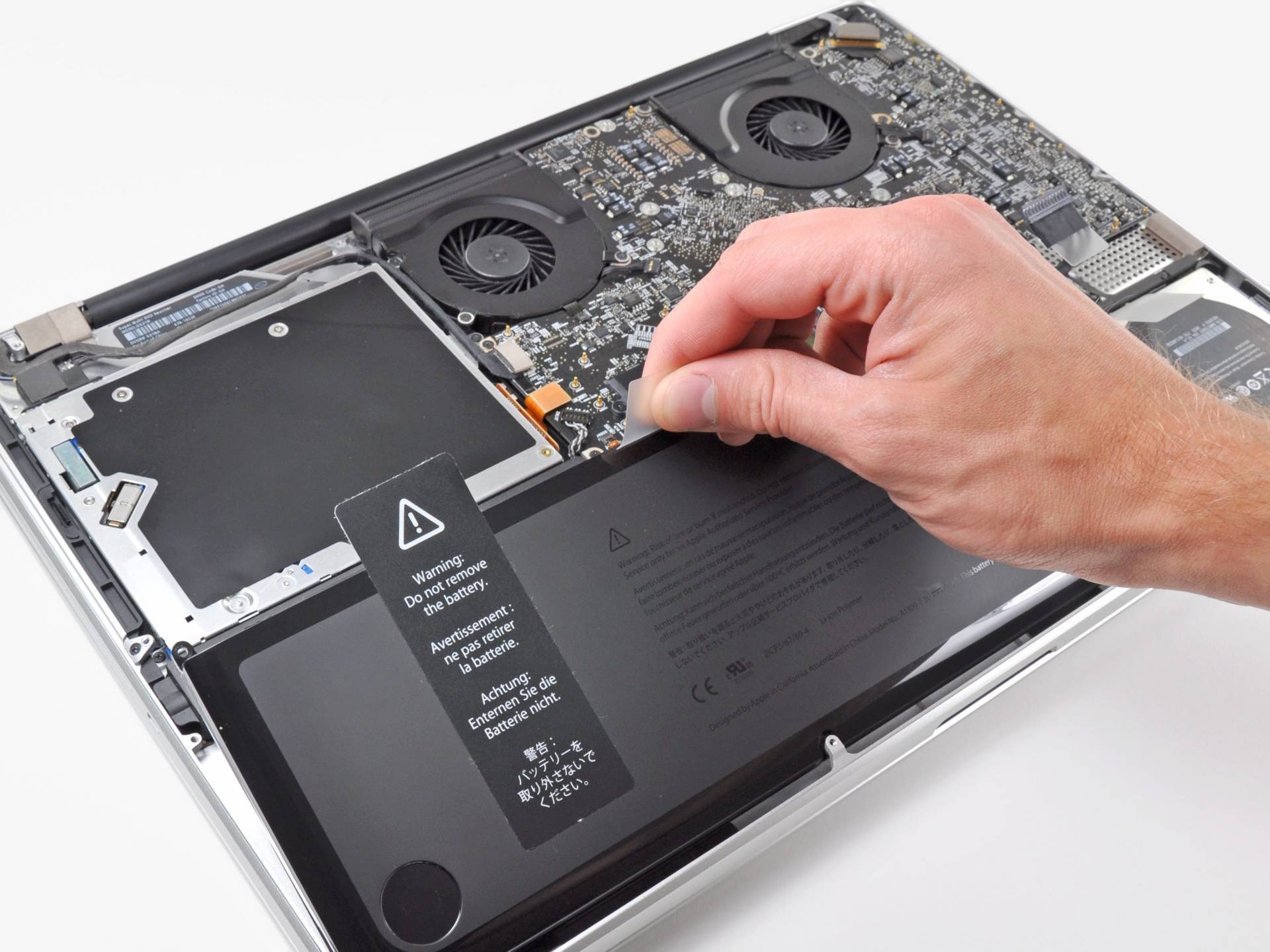 completamente batteria macbook