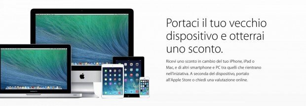 schermata 2015 07 23 alle 19.30.32 620x216 Programma Riuso & Riciclo Apple per iPhone, iPad e Mac