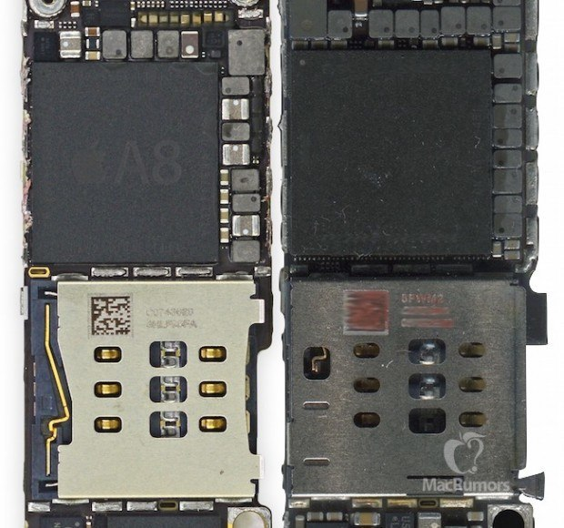 iphone 6s 6 chips 620x580 iPhone 6S mostrato semi assemblato in un video