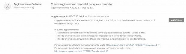 schermata 2015 08 14 alle 11.15.53 620x181 OS X 10.10.5 Yosemite disponibile al Download