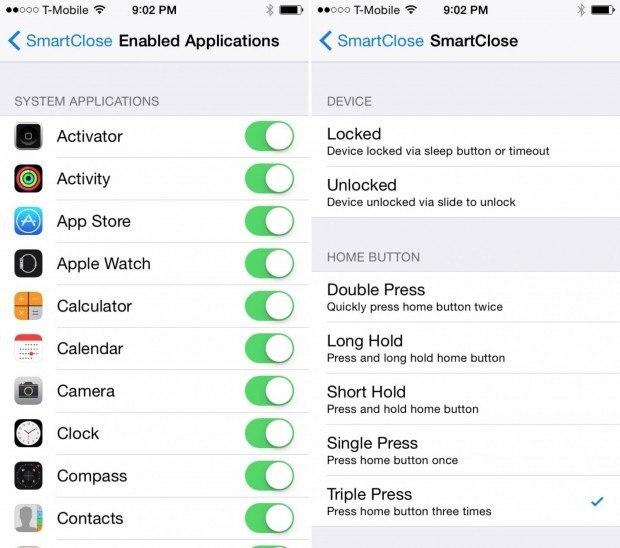 smartclose 620x548 SmartClose mantiene le app in uno stato di dormiveglia risparmiando batteria