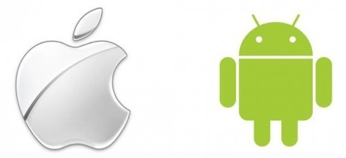 apple android logos 500x229 Come spostare i propri dati da Android a iOS