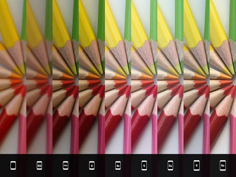 compared Comparativa fotografica tra iPhone 6s e precedenti iPhone