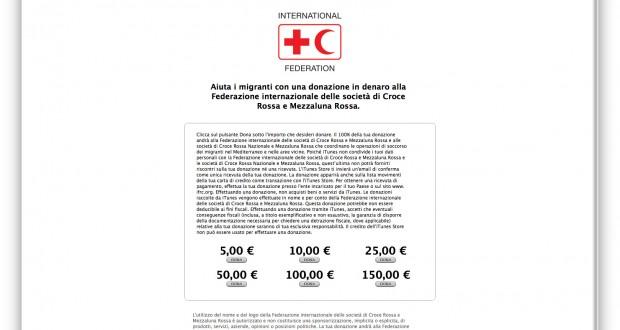 Apple Croce Rossa Donazioni