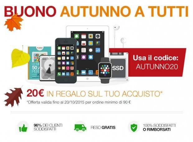 promozione 20euro buydifferent 620x455 BuyDifferent regala buoni da 20 euro per acquistare iPhone, iPad, Watch, upgrade Mac e videocorsi.