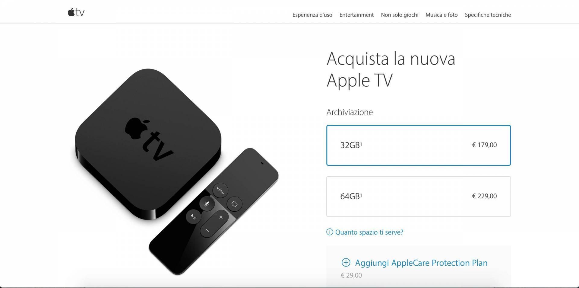 schermata 2015 10 26 alle 14.31.52 Apple TV 4 disponibile allacquisto da ora