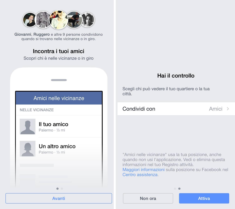 amici nelle vicinanze config Facebook introduce Amici nelle vicinanze