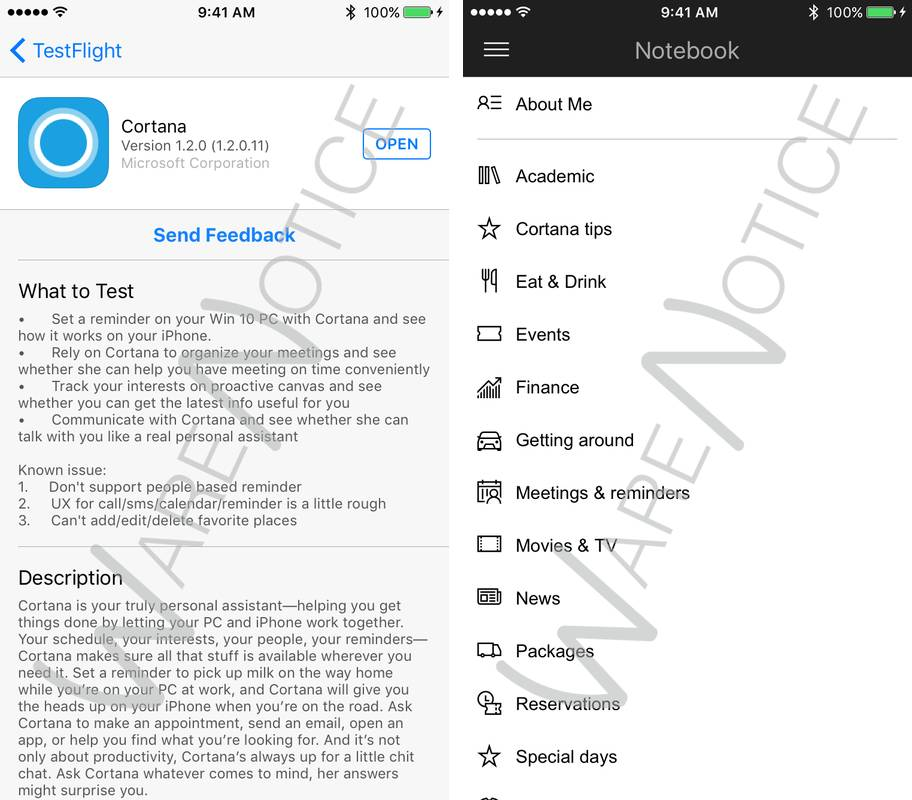 cortana for ios iphone screenshot 006 Microsoft rilascia Cortana per iOS, ma solo ai beta tester